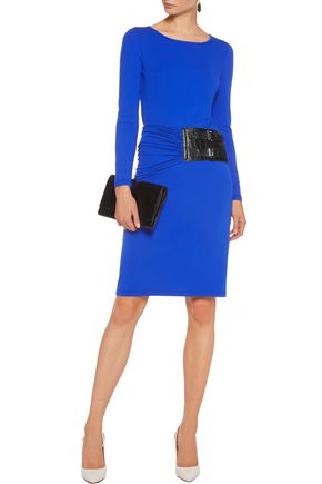 MICHAEL KORS COLLECTION Belted stretch-crepe dress