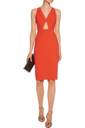 MICHAEL KORS COLLECTION Stretch-wool cutout dress