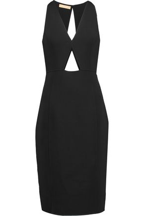 MICHAEL KORS COLLECTION Cutout stretch-wool crepe midi dress