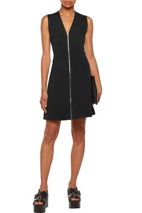 RAG & BONE Sharon silk satin-trimmed stretch-knit mini dress