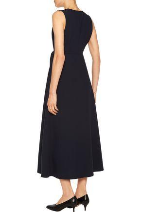 IRIS & INK Yvonne wrap-effect crepe midi dress