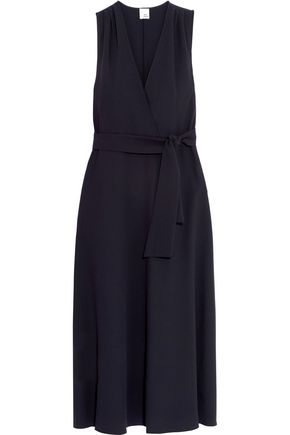 IRIS AND INK Yvonne wrap-effect crepe midi dress