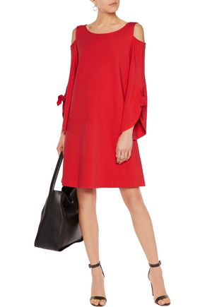 IRIS AND INK Amelia cold-shoulder jersey dress