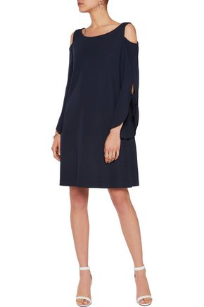 IRIS AND INK Amelia cold-shoulder stretch-jersey dress