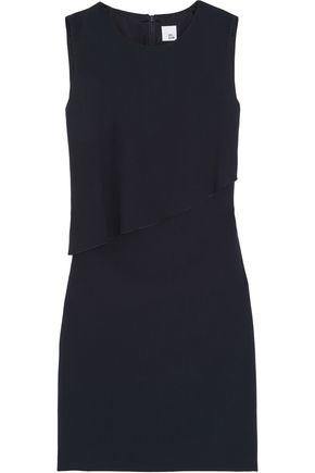 IRIS & INK Asymmetric layered crepe dress