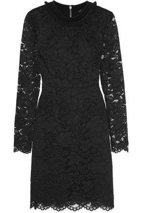 MARC BY MARC JACOBS Velvet-trimmed guipure lace mini dress