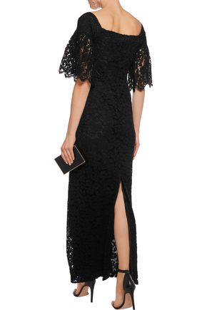 MERCHANT ARCHIVE Off-the-shoulder cotton-blend corded lace maxi dress