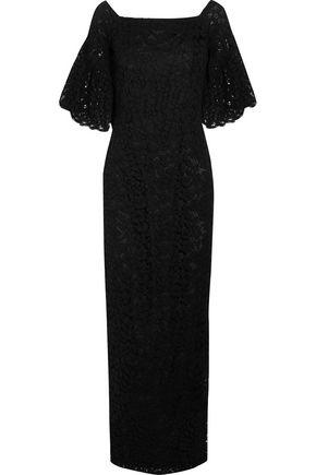 MERCHANT ARCHIVE Off-the-shoulder cotton-blend corded lace maxi dress