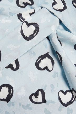 VANESSA SEWARD Printed silk-jacquard wrap dress