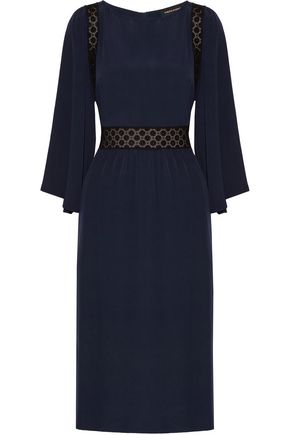 VANESSA SEWARD Bella embroidered cotton and  washed-silk dress