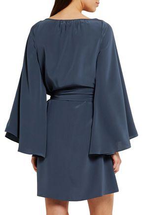 VANESSA SEWARD Baudelaire belted silk crepe de chine mini dress