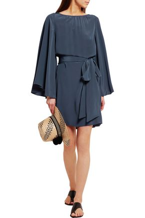 VANESSA SEWARD Baudelaire belted silk crepe de chine mini dress