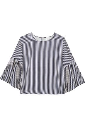 IRIS & INK Marissa striped charmeuse top