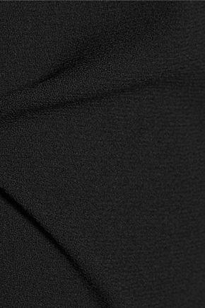 VANESSA SEWARD Charme pintucked silk-paneled wool mini dress