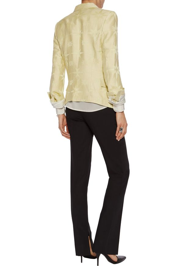 Linen and silk-blend jacquard blazer | HAIDER ACKERMANN | Sale up to 70%  off | THE OUTNET