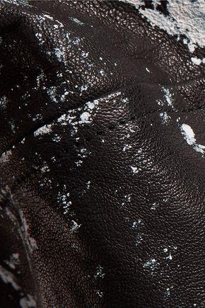 HAIDER ACKERMANN Biker cropped printed leather vest