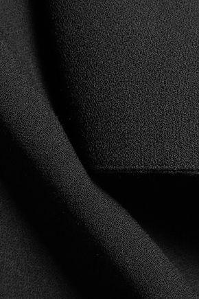 HAIDER ACKERMANN Satin-trimmed crepe top