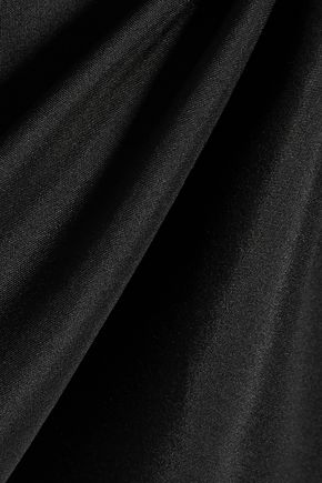 HAIDER ACKERMANN Lace-paneled silk-satin midi dress
