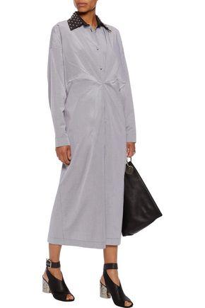 J.W.ANDERSON Studded gingham cotton midi dress