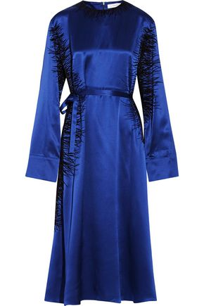 J.W.ANDERSON Flocked silk-satin maxi dress