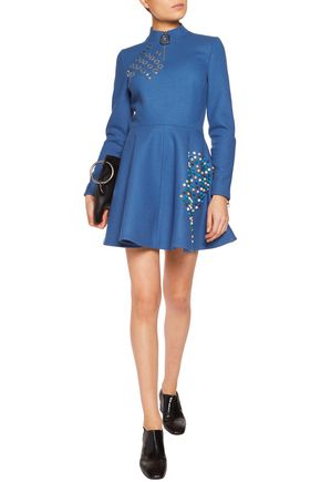 J.W.ANDERSON Embellished wool-felt mini dress