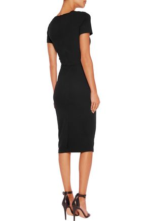 IRIS AND INK Zoe stretch-ponte midi dress