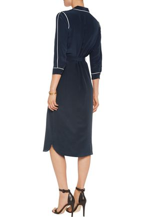 IRIS & INK Zanna silk midi shirt dress