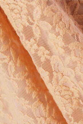 ALICE + OLIVIA Sachi cutout embroidered lace maxi dress