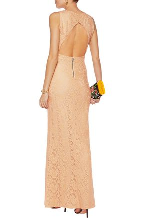 ALICE + OLIVIA Sachi cutout embroidered lace maxi dress