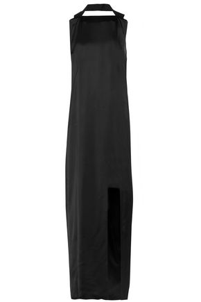 ACNE STUDIOS Rivka draped satin halterneck maxi dress
