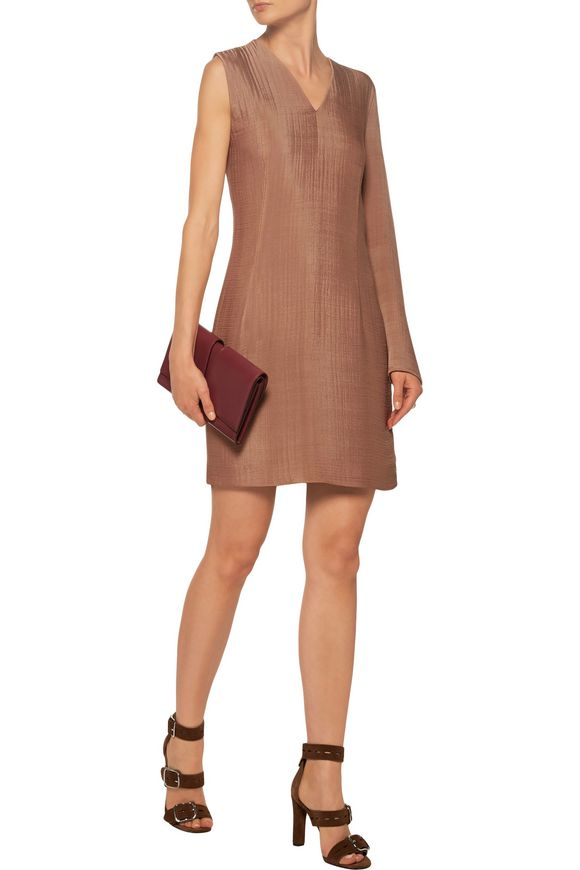 Sage asymmetric twisted cloqué mini dress | ACNE STUDIOS | Sale up to 70%  off | THE OUTNET