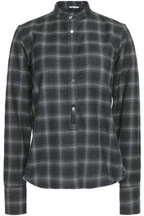 HELMUT LANG Checked wool and cashmere-blend