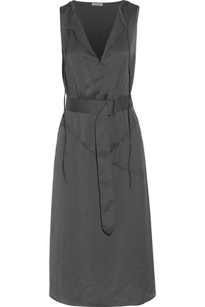 TOMAS MAIER Belted satin dress