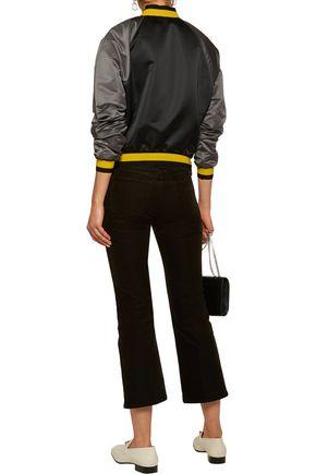 TOMAS MAIER Color-block satin bomber jacket