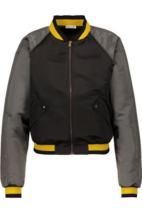TOMAS MAIER Color-block satin bomber jacket