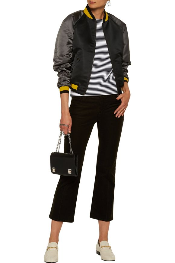 Color-block satin bomber jacket | TOMAS MAIER | Sale up to 70% off | THE  OUTNET