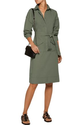 TOMAS MAIER Belted cotton-twill dress