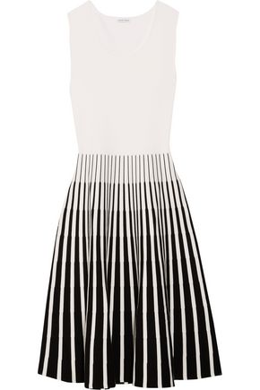 TOMAS MAIER Striped intarsia-knit dress