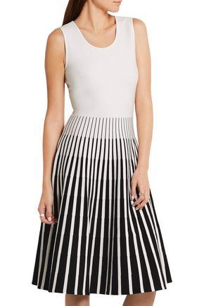 TOMAS MAIER Striped intarsia-knit dress