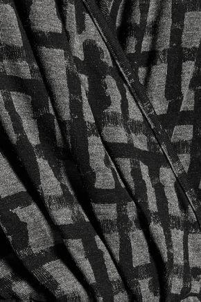 TOMAS MAIER Wrap-effect printed stretch-jersey mini dress