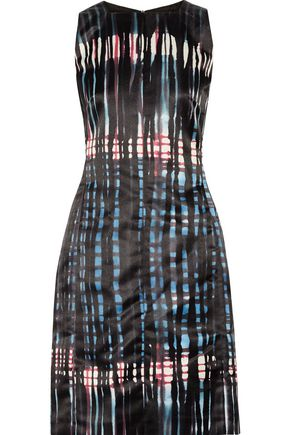 TOMAS MAIER Printed satin dress