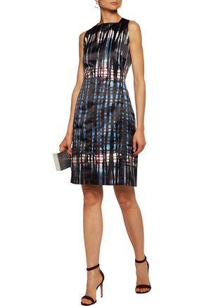 TOMAS MAIER Printed satin dress
