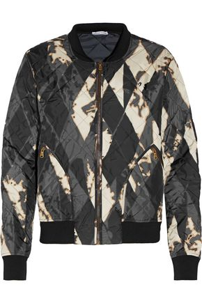 TOMAS MAIER Printed quilted shell bomber jacket