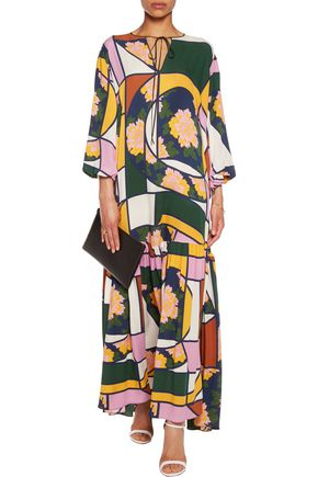 ROKSANDA Nihau printed silk-crepe maxi dress