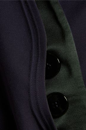 ROKSANDA Kilda cropped silk and wool-blend jacket