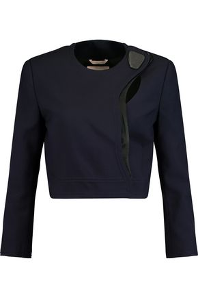 ROKSANDA Kilda cropped silk and wool-blend jacket