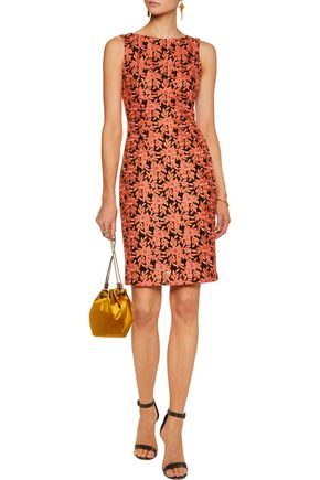 BADGLEY MISCHKA Embroidered voile dress