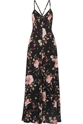 ALICE + OLIVIA Alves floral-print crepe de chine maxi dress