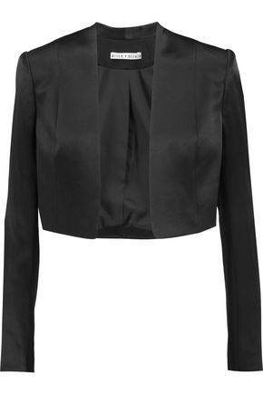 ALICE + OLIVIA Londyn cropped satin jacket