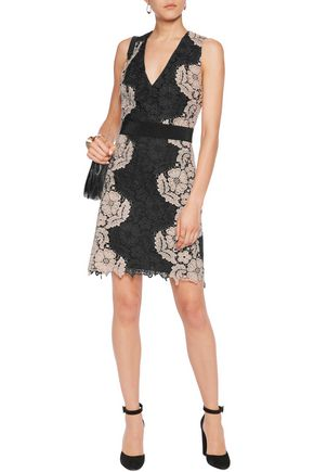 ALICE + OLIVIA Patrice guipure lace mini dress